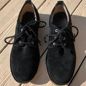 UGG Men's Suede Oxford Lace-up Shoes, Black, 9